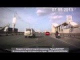 Bike Accident Motorcyclist When Overtaking In The Right Lane Slowed With The Fall WOW Selection