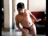 Boy Dancing Like Gangsta Rapper