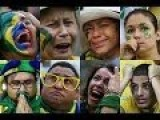 Brazil Fans' Despair And Anger As Germany Blasts Their Team Away 7-1 In World Cup Semi-final