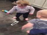 Babies Slip On Spilled Dish Soap