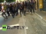 Brazil: Police And Protesters BATTLE At Transit Hike Demo