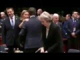 BrExit: Theresa May Snubbed At EU Summit