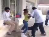 Black Woman Knocks The Fuck Out Black Guy Fight Knockout Pussy