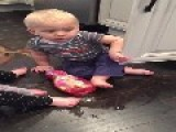 Babies Spill Dish Soap On Floor