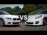 BMW M5 F10 Vs Porsche Panamera Turbo Grand GT 620 HP Drag Race