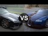Bugatti Veyron Vs Nissan GTR R35 Drag Race