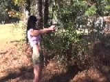 Brunette Shooting Glock