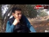 Barrel Bomb Lands Near Reporter
