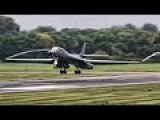 B-1B Bombers Takeoff & Land In England