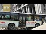 Bus Out Of Control Hits People On Street