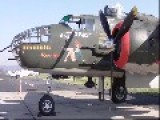 B-25J Mitchell Show Me Start Up Taxi And Take Off