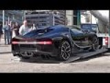 BUGATTI CHIRON Getting Unloaded In Monaco