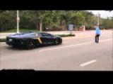 Brave Grandfather Threw A Stone Into A Lamborghini!