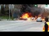 Burning Car Rescue In LA Calif