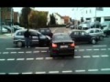 BMW Driver Behaves Like An Idiot At An Intersection