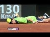 Ballboy Passes Out And Face Plants In Rome