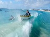 Boat Is Swallowed By Wave