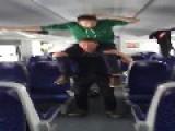 Boozed Up Boys Go Mental On An Empty Train In Austria