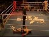 Boxing Winning By One Kick