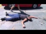 Black Guy Gets Knocked Out By White Boy BLOODY MESS