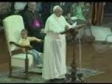 Boy Sat In Pope Francis's White Chair