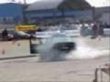 Burnout Competition Driver Runs Himself Over