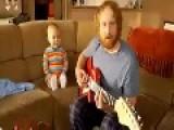 Baby Playing Guitar