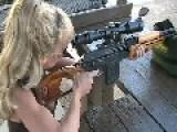 Blondie Firing PSL 7.62 Rifle