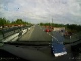 Biker Crashes Into Another