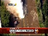Breaking News: 36 Water Main Break In Los Angeles Cal