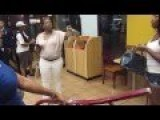 Black Mommy Shows Little Girl How To Brawl In A Fried Chicken Fast Food Restaurant