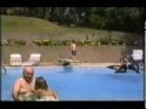 Back Flip Into Pool Fail