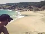 Beach Frisbee Trick Shot