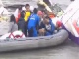 Baby Is Rescued On River After Plane Crash In Taiwan