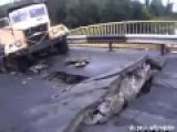 Blown Up Bridge Across The River Seversky Donetsk