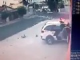Brazilian Police Teach Bandits Fleeing On A Motorbike, How To Fly