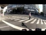 Crazy Motorcyclist In The Streets Of Brazil