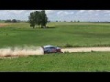Crazy Helicopter Pilot During PZM 73rd Rally Poland - WRC Event