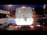 CCTV - Brutal Crash Truck At A Red Light