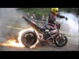 Crazy Burning Motorcycle