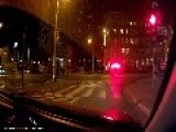 Car Runs Red Light And Chased By Police