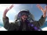 Cute Girl Goes For A Flight On A Russian Jet