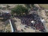 Chaotic Scenes: Hundreds Of Idomeni Refugees Crammed On The Greek-FYROM Border