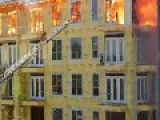 Construction Worker Saved From Burning Building