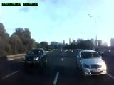 Car Hitting Scammers, Moscow Ring Road