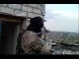 Chechen Volunteer Fighters In Fighting Against Novorossian Rebels In Shyrokyne