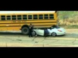 Car Gets Trapped Under School Bus In Colorado