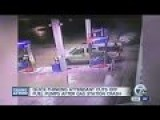Car Takes Out Gas Pumps In Crash