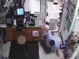 CCTV... Clerk Tries To Stop Girl Stealing From Register