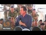 Cameron Meets With Troops, New Government On Unannounced Afghanistan Visit